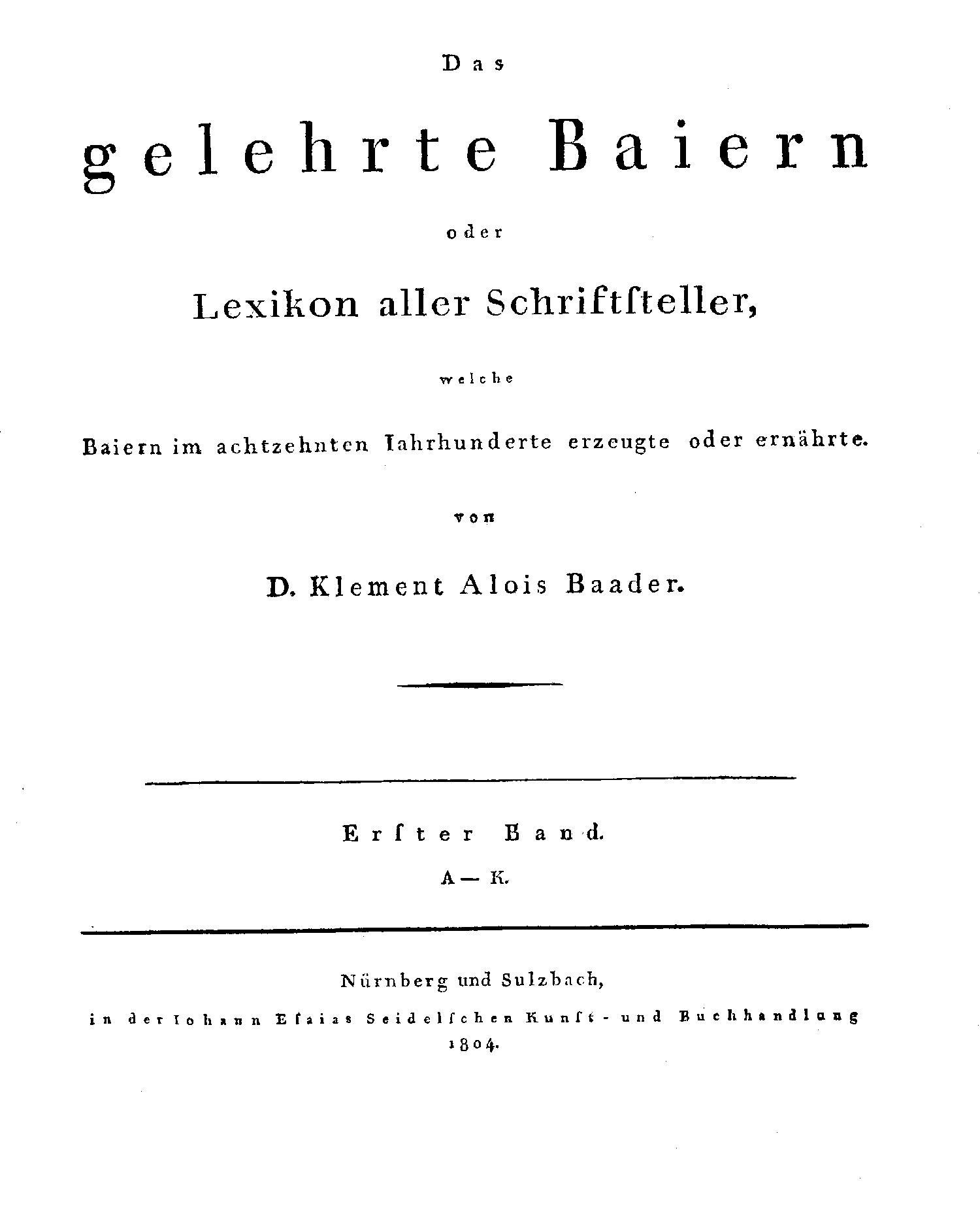 Titelblatt: Das gelehrte Baiern