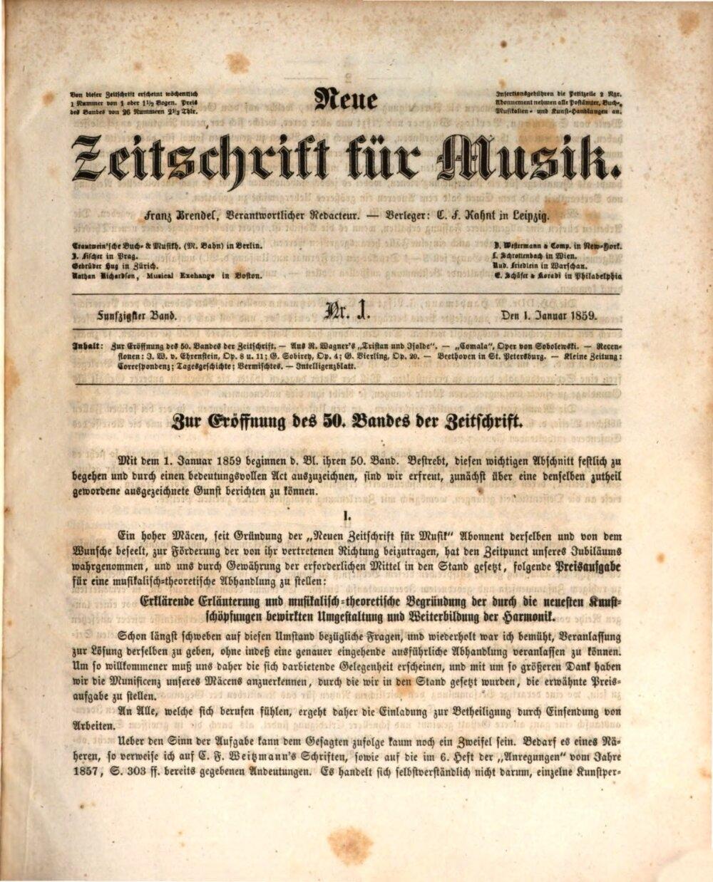 Neue Zeitschrift für Musik 20   Bayerische Staatsbibliothek