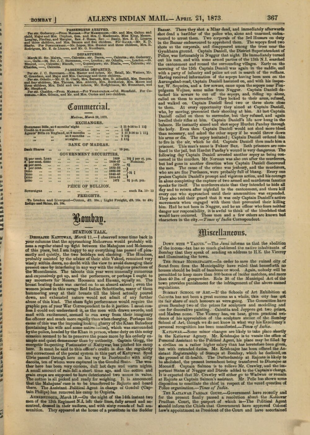 Allen's Indian mail and register of intelligence for British and ...