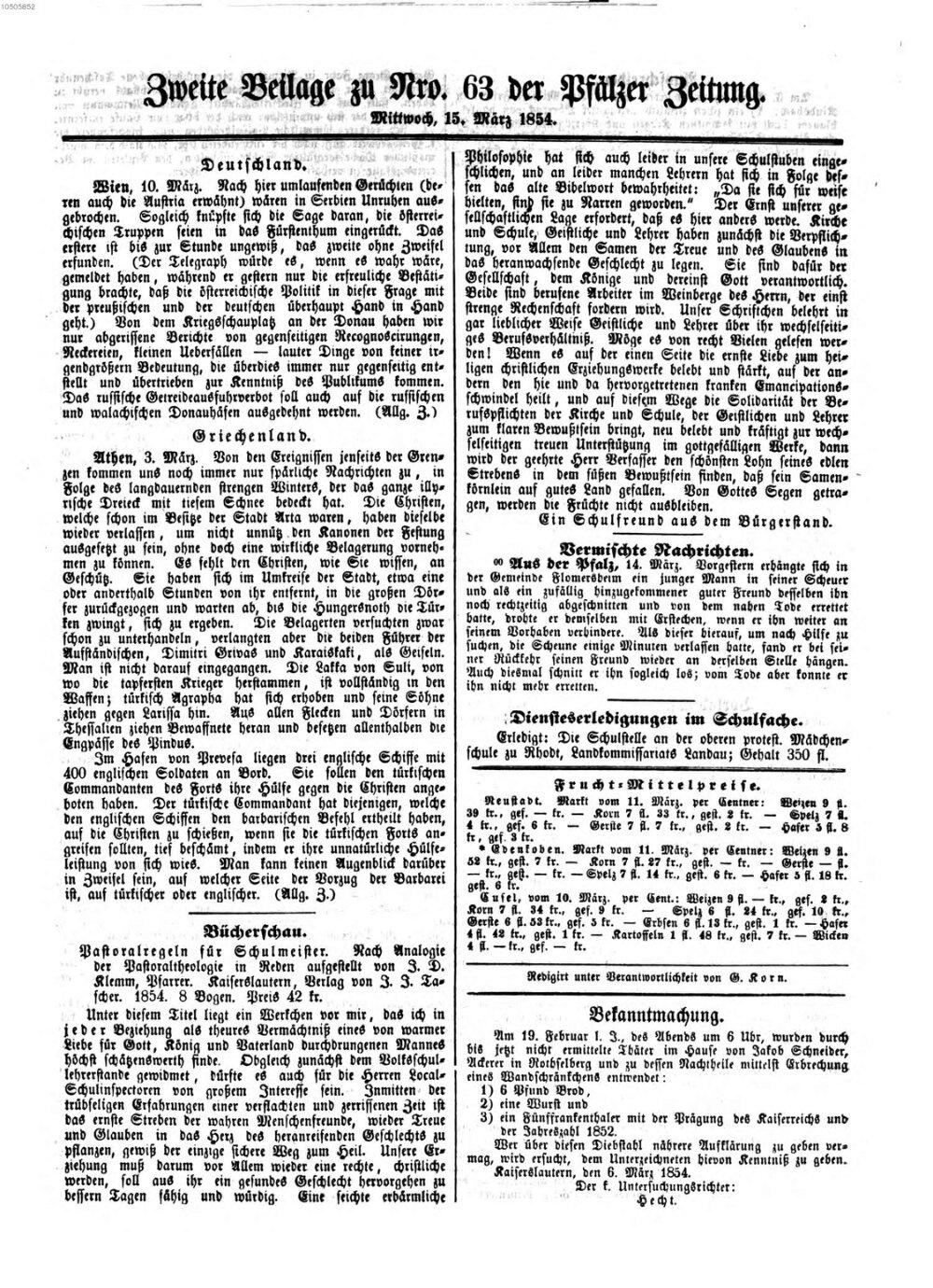 Pfälzer Zeitung 20   Bayerische Staatsbibliothek